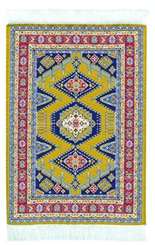 Mouse Pad - Oriental Carpet Woven Fabric Mousepad - Samarkant Design