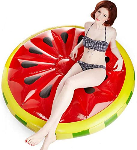 Vaxiuja Gonflable Watermelons Flottent en été Piscine Plage Adulte Enfants en Plein Air Jouets d'eau Plié Chaise De Terrasse Piscine Flotteur