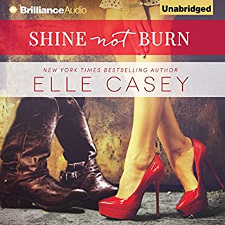 Shine Not Burn audiobook cover art