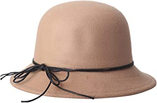 Lei Zhang Hat Autumn and Winter New Wool Simple hat Ladies Fashion hat Cap (Color : Khaki, Size : 57cm)
