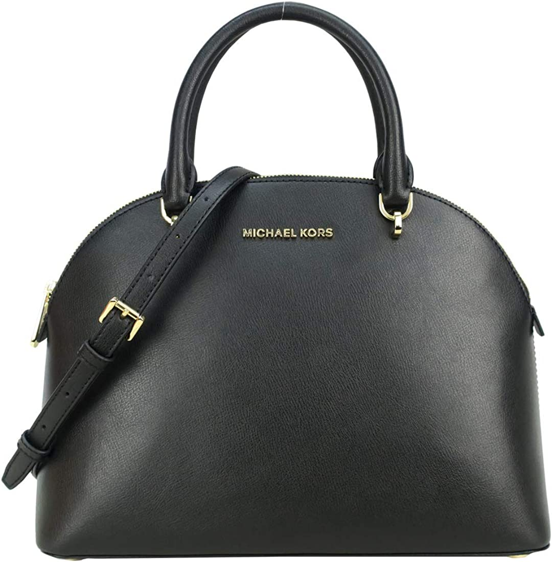 Regular discount Michael Kors Emmy Large Dome Low price Studded Leather Satchel Sc Saffiano
