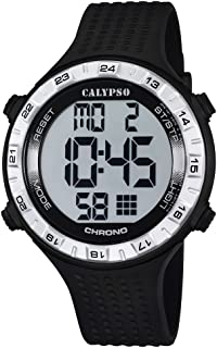 Calypso Unisex Digital Watch with LCD Dial Digital Display and Black Plastic Strap K5663/1