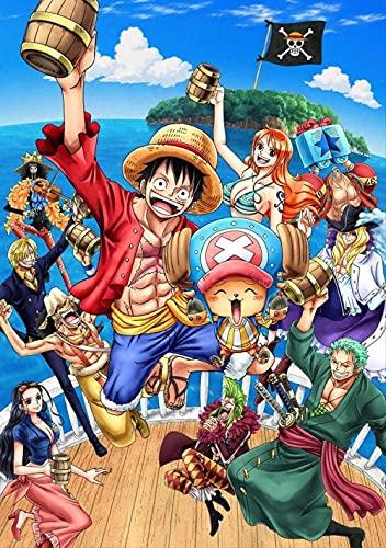 YDH Puzzle de Film One Piece pour Adultes Puzzle Impossible de 1000 pièces Décompression Jeu de Cadeaux éducatifs pour Adultes.
