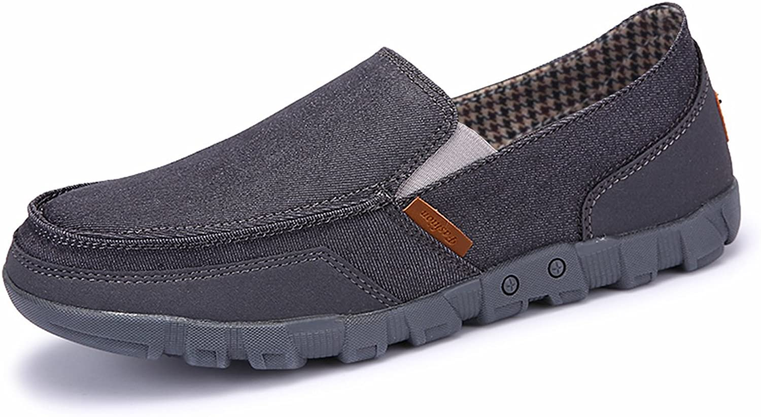 BEFAiR Slip on shoes for Men Canvas Comfort Casual Loafers Vintage Walking Sneakers Breathable Boat shoes