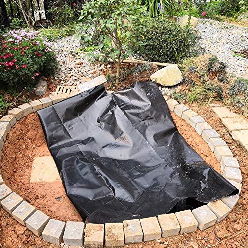 iBoosila General Premium PE Teichfolie Schwarz für Gartenteich;0,3 mm Stärke, UV-Beständig, reißfest, umweltfreundlich 2x3/3x4m