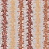 englisch dekor Dekostoff Vorhangstoff Streifenmuster orange