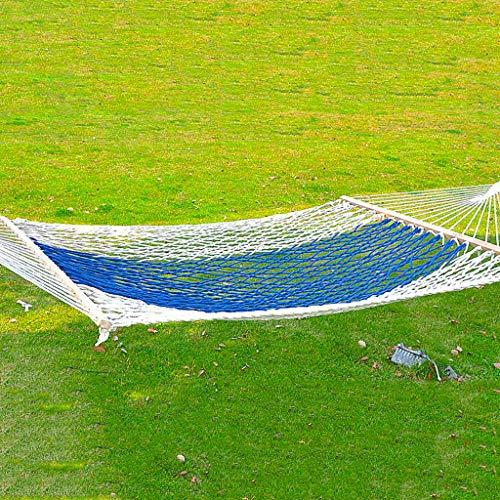Hamacs Jardin et Patio Balançoires De Jardin Solides Portant Un Extérieur Un De Plein Air Un De Camping Un (Color : Blue, Size : 200 * 100cm)