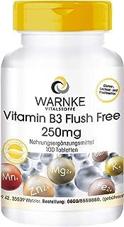 Vitamina B3 Flush Free 250mg – Vegana – 100 comprimidos