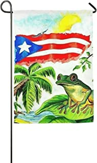 KGEDLA Colorful Flag Puerto Rico Funny Lawn Yard House Garden Flags 12.5 x 18 All-Weather Polyester Decorative