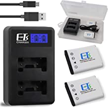 E-TS Upgraded 1200mah Fujifilm NP-45 Battery Replacement 2 Pack and Dual Charger Compatible for NP-45 NP-45A NP-45B NP-45S and Fujifilm FinePix XP20 XP22 XP30 XP50 XP60 XP70 XP80 XP90 T350 T360 T400