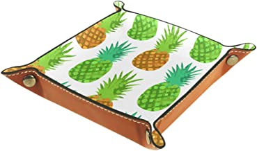 Shallow Storage Bin Box Desktop Organizer Containers Baskets Cube with Bright Juicy Pineapples