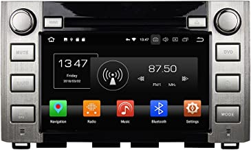 KUNFINE Android 9.0 Otca Core 4GB RAM Car DVD GPS Navigation Multimedia Player Car Stereo for Toyota Sequoia/Tundra 2014 2015 2016 Steering Wheel Control 3G WiFi Bluetooth Free Map Update 8 Inch