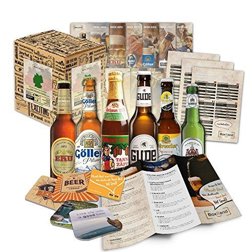 Paquete de 6 especialidades de cerveza de Alemania (las mejores cervezas alemanas) como un juicio a la caja de ingift regalo (selección de cerveza de alta calidad) 6 x 0,33 l