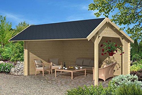 Gartenhaus LEIPZIG Unterstand Blockhaus Holzhaus 500 x 350 cm - 45 mm