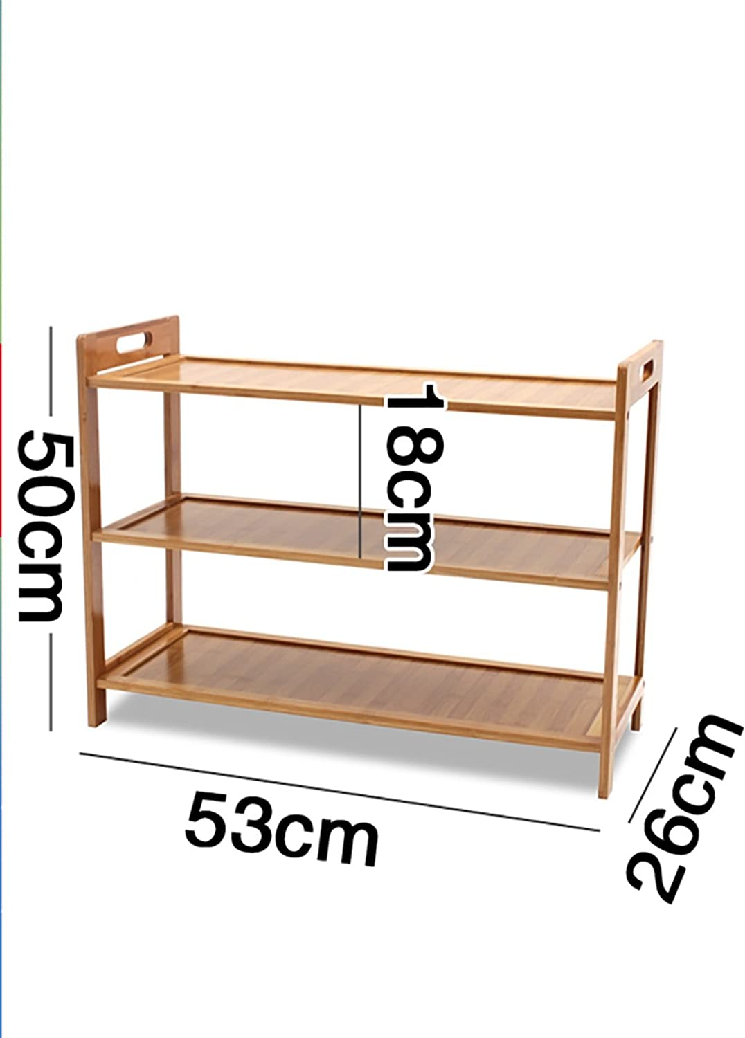 shoes Bench Organizing Rack shoes Racks Bamboo shoes Racks Solid Wood shoes cabinets Small shoes Racks Multi - Purpose Shelves (color   A, Size   53cm)
