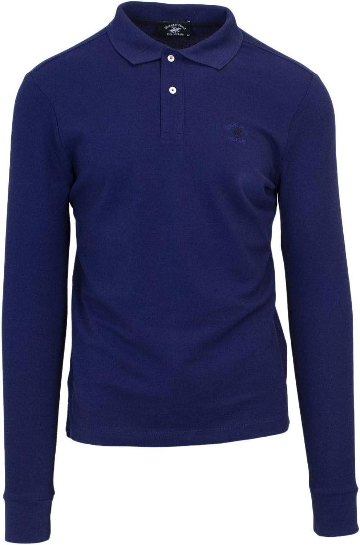 BEVERLY HILLS POLO CLUB Men's BHPC4300bluee blueee Cotton Polo Shirt