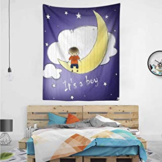Boy Baby Sky Greeting Tapestry Home Decorations 40