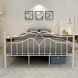 queen bed frame with footboard