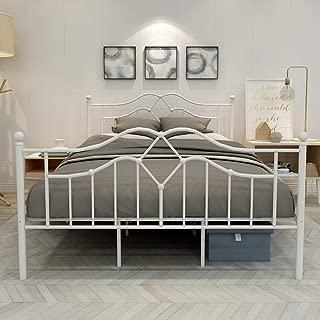 metal bed frame platform mattress foundation