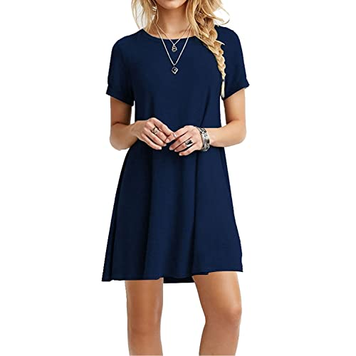 da86d4bf957 MOLERANI Women s Casual Plain Simple T-Shirt Loose Dress