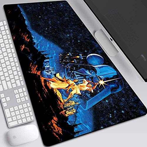 ZCP Gaming Mouse Pad,for Skywalker Rise Star Wars 9 Large Extended Keyboard Mouse Mat 900x400mm Oversize Mousepad for Computer PC Desk Office (Color : 44)