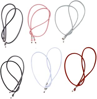 6 pcs Assorted colors Eyeglass Chains Sunglass Holder Glasses Cord NeckStrap Necklace