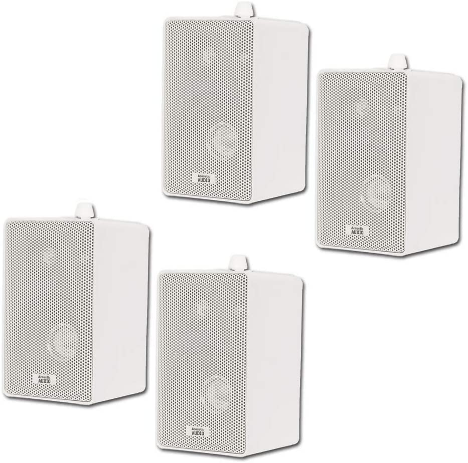 Acoustic Audio 251W All items in the store Indoor Outdoor 3 White Way Speakers 800 Watt Popular product