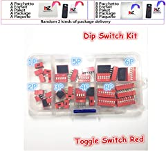 35PCS/LOT Dip Switch Kit 1 2 3 4 5 6 8 Way 2.54mm Toggle Switch Red Snap Switches Mixed Kit Each 5PCS Combination Set