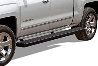 APS Wheel to Wheel Running Boards 6in Custom Fit 2007-2018 Chevy Silverado GMC Sierra Crew Cab 5.5ft Short Bed & 2019 2500 3500 HD (Exclude 07 Classic)(Include 19 1500 LD) (Nerf Bars Side Steps Bar)