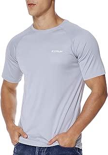 EZRUN Men's UPF 50+ UV Sun Protection Outdoor Running Fishing Rash Guard Swim Shirts for Men