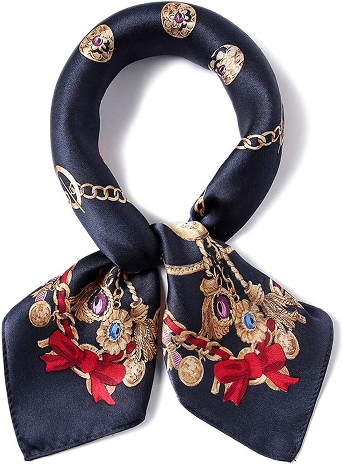 Silk Scarf for Women Lightweight Spring and Autumn Wild Scarf (color   color 2)