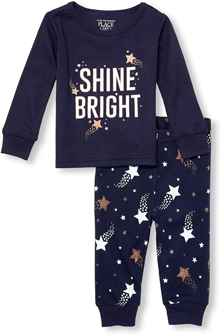 The Children's Place Baby Girls 2 Piece Long Sleeve Pajama Set