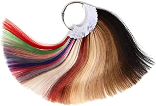 Rinboool Hair Color Rings Sample Testing Kit,100% Human Remy Hair Swatch Chart,Colored 35 Kinds Of Hair Color,8 Inch