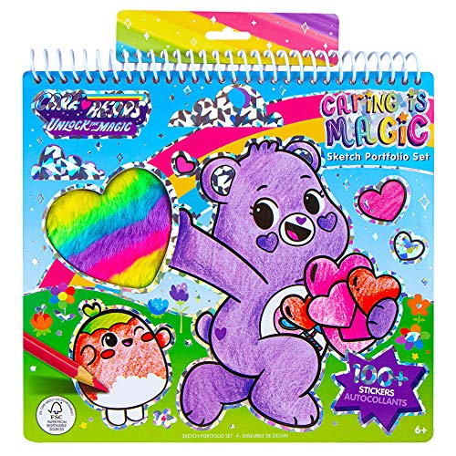 Fashion Angels Care Bears Caring is Magic Portfolio for Kids- Care Bears Themed Coloring Book, Includes 20 Sketch Sheets and Stickers, for Ages 6 and Up