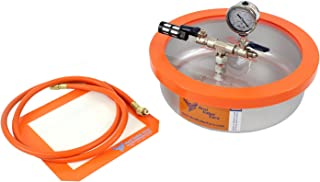 1 Gallon Flat Stainless Steel Vacuum Chamber (Assembled in USA, Contains Domestic Components)