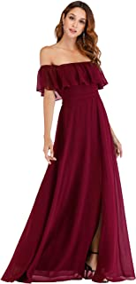 Ever-Pretty Womens Off The Shoulder Ruffle Party Dresses...