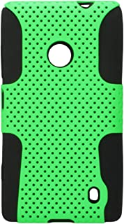 MyBat ASMYNA Astronaut Phone Protector Cover for Nokia Lumia 520 - Retail Packaging - Green/Black