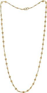 Handicraft Kottage 1GM Gold Plated Alloy Chain for Women,Men,Boy,Girls,Unisex (HK-Chain 110012)