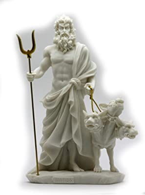 Estia Creations Hades Cerberus Sculpture Ancient Greek God of The Underworld Aged Artifact