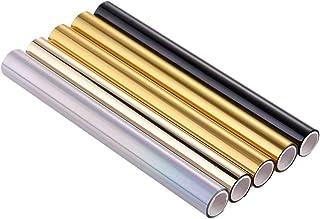 5Pcs Glimmer Hot Foil, Metallic Variety 5 Pack Multi Color 19Cmx5 Meters Fiver Rollers Hot Stamping FoilGold Foil,Foil by ...