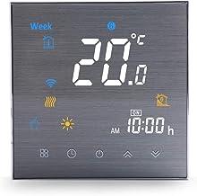 Termostato Inteligente de Wifi Calentador de Gas/Agua Termostatos Wifi Programables para Calefacción en el Hogar, Termosta...