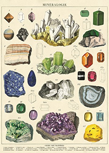 Cavallini Decorative Wrap Poster, Mineralogie, 20 x 28 inch Italian Archival Paper (WRAP/MIN)