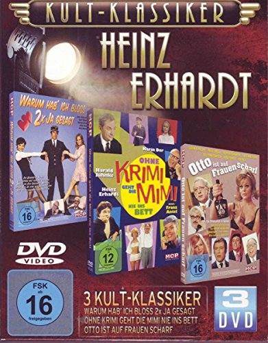Kultklassiker mit Heinz Erhardt (3DVDs: Ohne Krimi geht die Mimi nie ins Bett, Otto ist auf Frauen scharf, Warum hab' ich bloß zweimal ja gesagt)