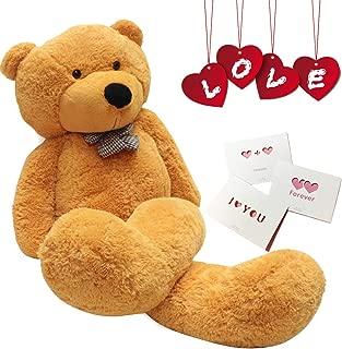 Happy Island Big Cute Plush Teddy Bear Huge Plush Animals Teddy Bear Girl Children Girlfriend Valentine's Day White (Brown, 31 inch)