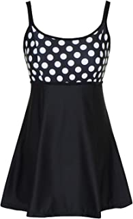 DANIFY Women's One Piece Polka Dot Swimdress Cover Up...