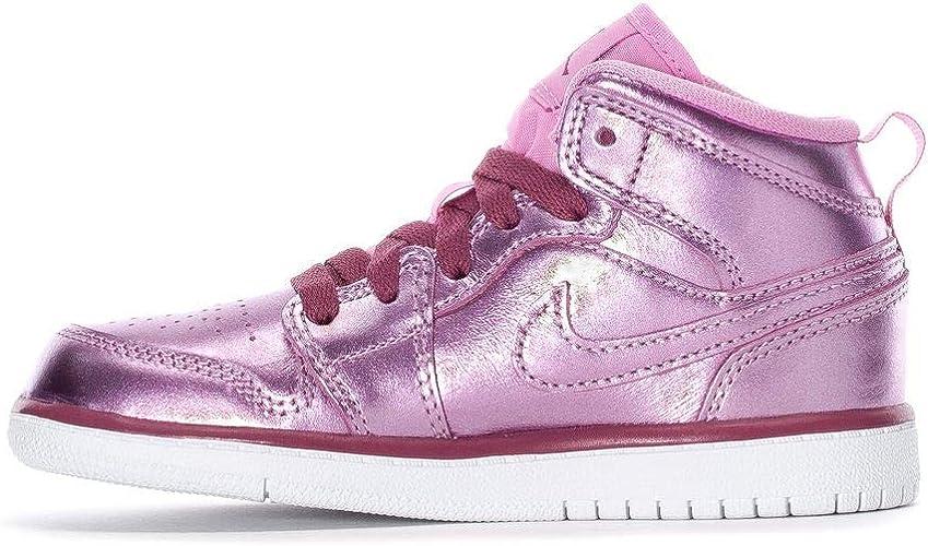 Jordan 1 Mid Se (Ps) Av5173-640 Petit Enfant, Rose (Pink Rise ...