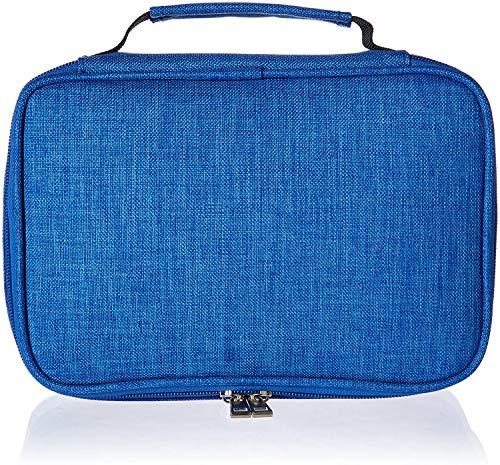 Soucolor Colored Pencil Case Holder Multifunction Pencil Zipper Pouch Pen Bag Pencil Pen Box 72 Slot Makeup Cosmetic Bag for Women Travel Office Supplies (Blue)