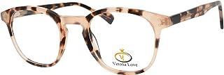 Fashion Optical Frames For Men and Women Replaceable lens Non Prescription Eyeglasses Hand Made Designer Acetate Eyeglasses cute glasses Vintage Demi Chestnut Round Frame
