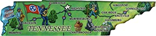 Tennessee - Acrylic State Map Refrigerator Magnet