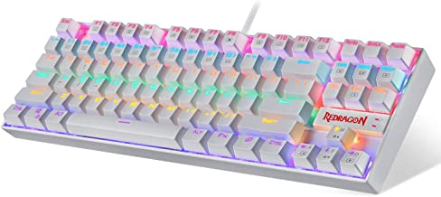 Redragon K552 Mechanical Gaming Keyboard RGB LED Rainbow Backlit Wired Keyboard with Red Switches for Windows Gaming PC (8...